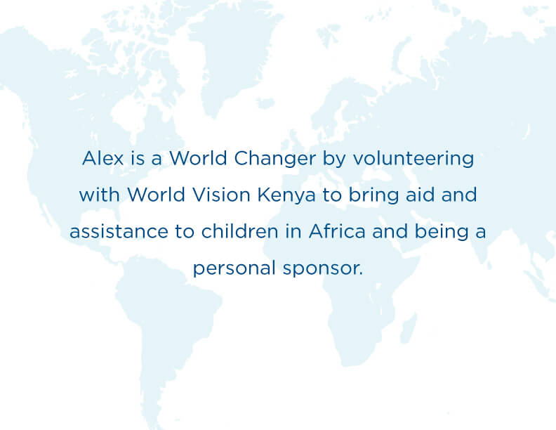 World Changer Alex caption